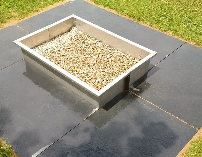 Modern Square Stainless Steel Fire Pit exclusively from EHS Sales Ltd.