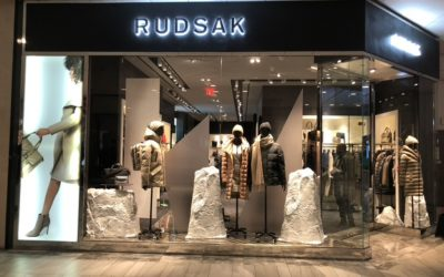 Rudsak's Visual Display using Faux Rocks!