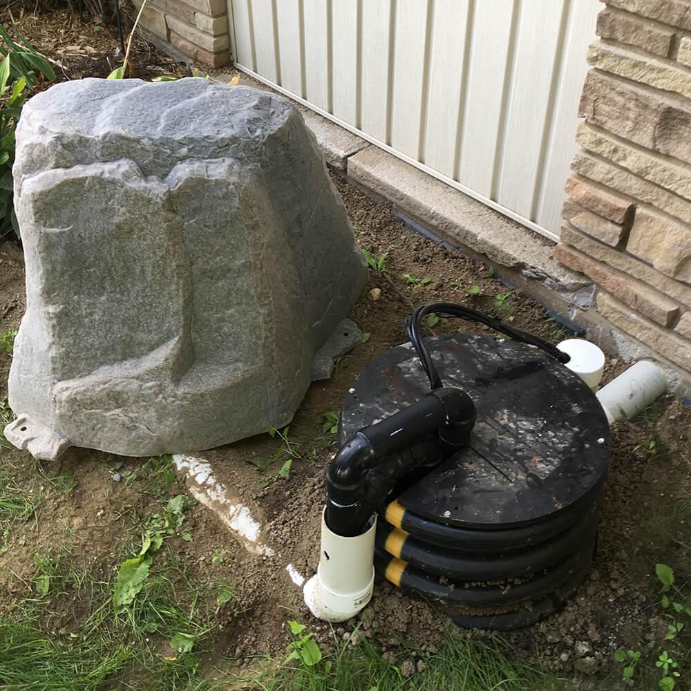 outdoor sump pump system installation