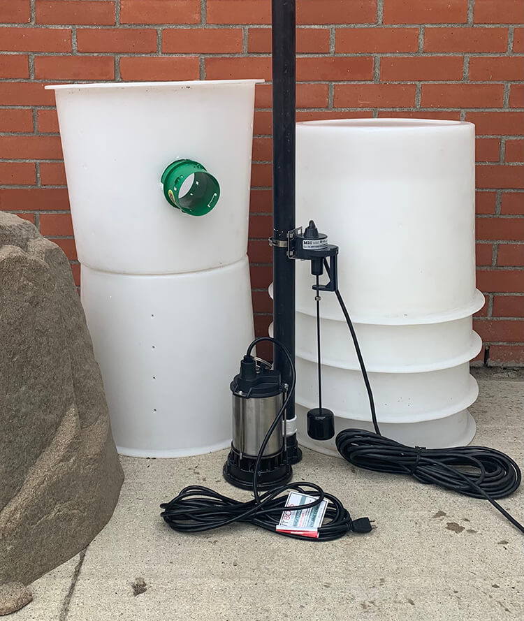 outdoor sump pump model OUT99 ehs sales canada